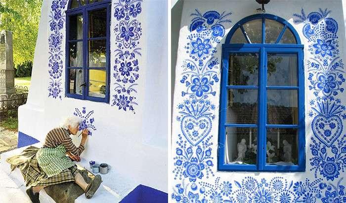 90-летняя бабушка из Чехии превращает деревню в художественную галерею-17 фото-