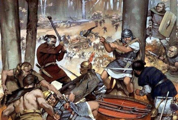 Битва в Тевтобургском лесу: разгром легионов Вара-14 фото-
