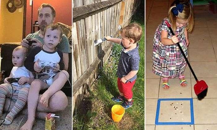 Эти волшебные трюки - спасение для родителей!-12 фото-