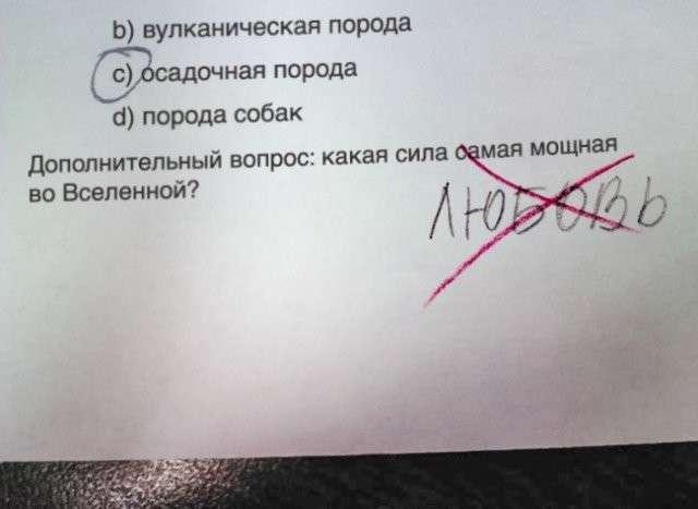 Смешные ответы школьников, до которых взрослые бы не додумались-10 фото-