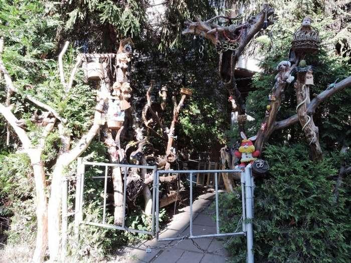 Сказочный детский дворик-30 фото-