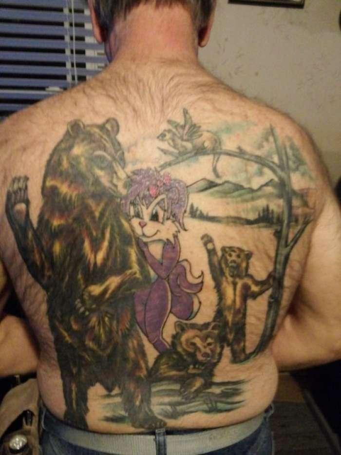 25 забавных фотографий, демонстрирующих худшие татуировки с изображением животных-26 фото-