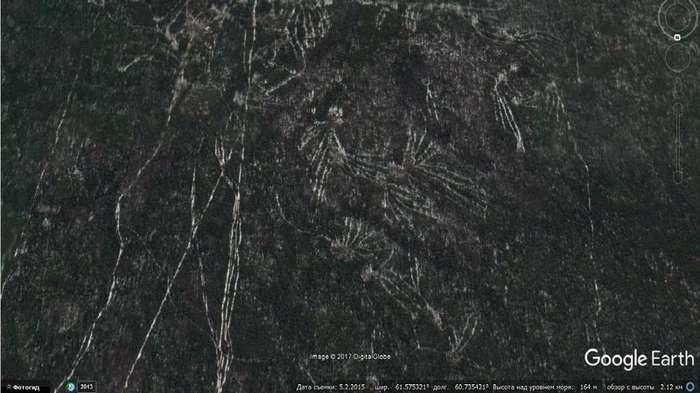 У печально известного перевала Дятлова обнаружены гигантские мистические знаки-3 фото + 1 видео-