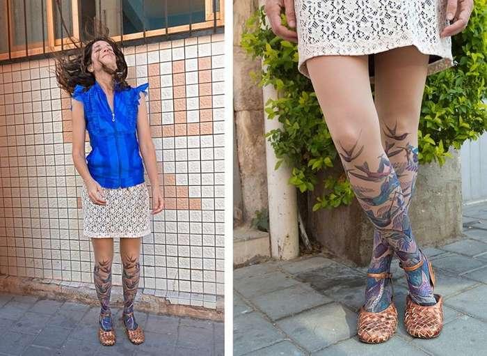 TattooSocks — колготки, которые покроют ваши ноги красивыми татуировками без игл и краски-15 фото-