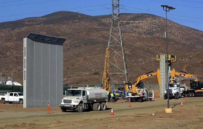 Стена на границе США и Мексики: мега-стройка в фотографиях-16 фото + 1 видео-