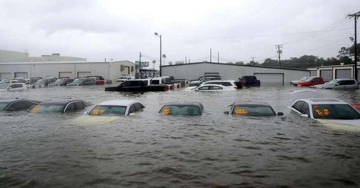 Что будет с машинами-утопленниками после урагана -Харви--7 фото + 1 видео-