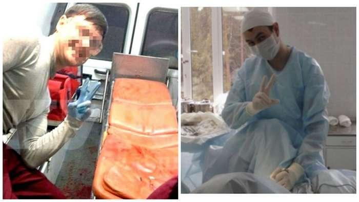 Ничего святого. Любовь молодых медиков к селфи с пациентами-13 фото-