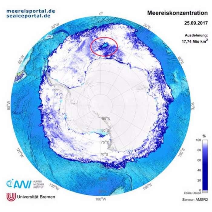 В Антарктиде появилась огромная дыра, и никто не знает причину-4 фото-