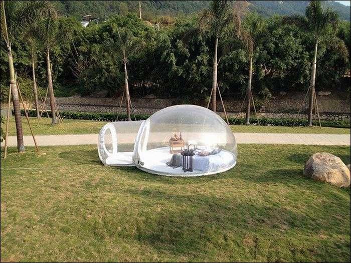 Прозрачная палатка для любования звездами-5 фото-