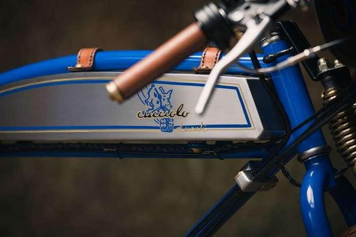 Щенячья любовь - кастомный ретро-мотоцикл Ducati Cucciolo-10 фото-