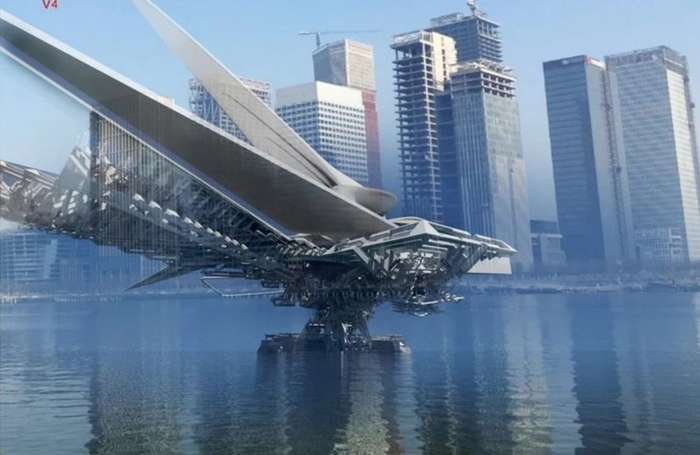 Предложена необычная концепция передвижного складного моста-4 фото-