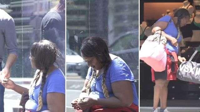 Авторы реалити-шоу дали бездомной женщине пачку денег. И немало подивились, на что она их потратила!-7 фото + 1 видео-