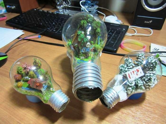 Миниатюры в лампочках-33 фото-