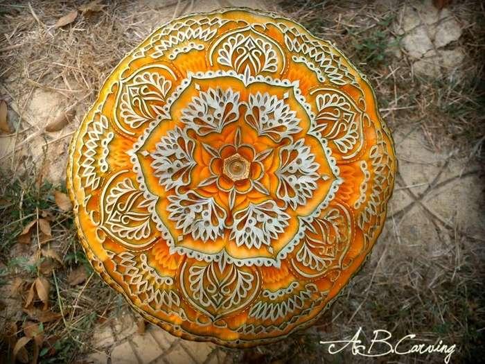 Нереальный карвинг по тыкве от Ангела Боралиева-27 фото-