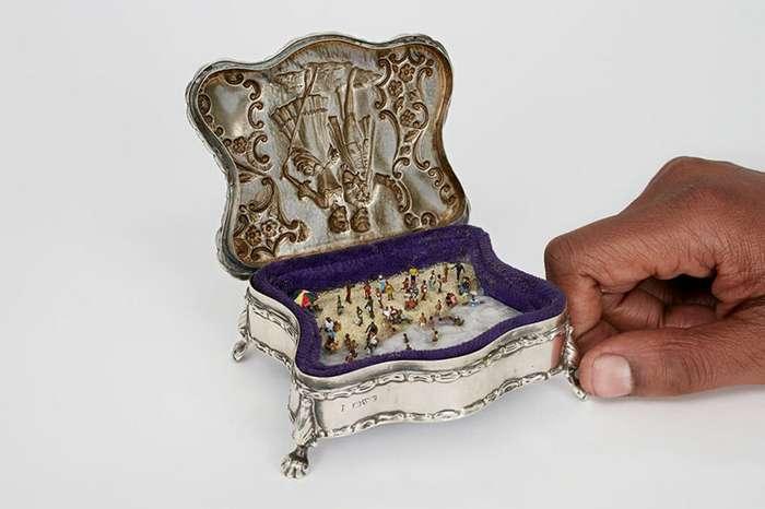 Сцены жизни внутри ювелирной коробки-29 фото-