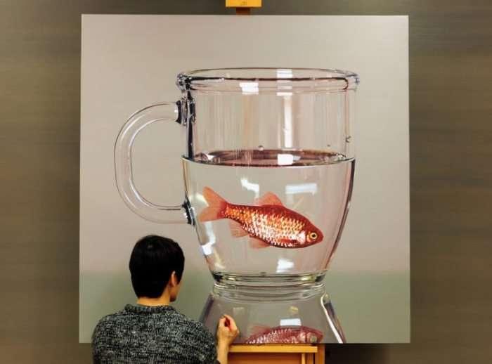 Работы одного из самых дорогих художников-гиперреалистов современности-7 фото-