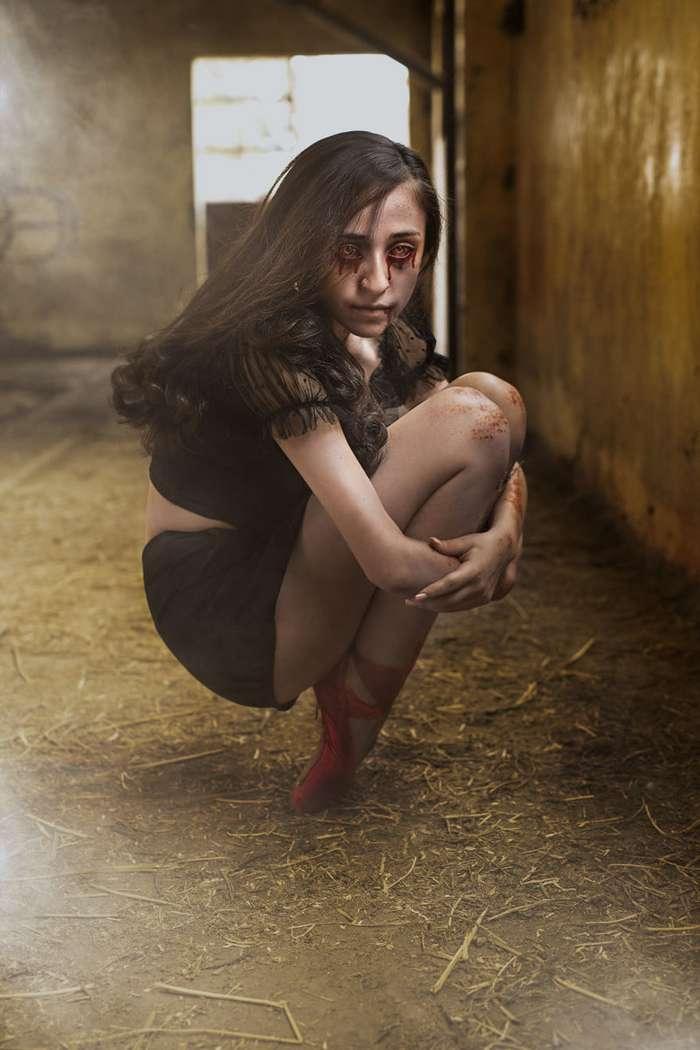 Хэллоуин уже близко: фотограф превращает своих моделей в зомби-21 фото-