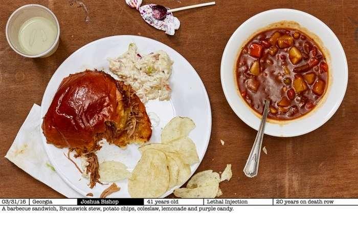 Фотограф снимает последние ужины приговоренных-20 фото-