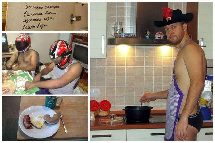 Когда мужчина на кухне за главного-12 фото + 6 видео-