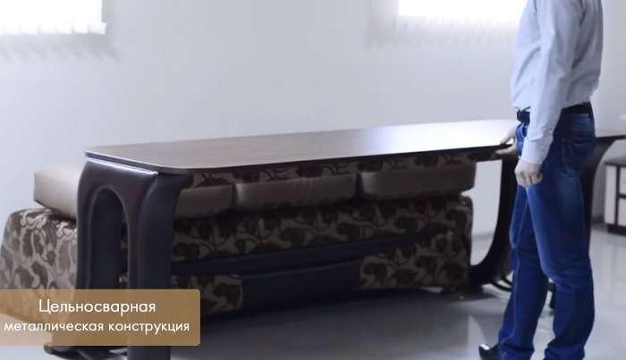 Незаменимая вещь в малогабаритной квартире: Диван-трасформер, который легко превращается в обеденный стол