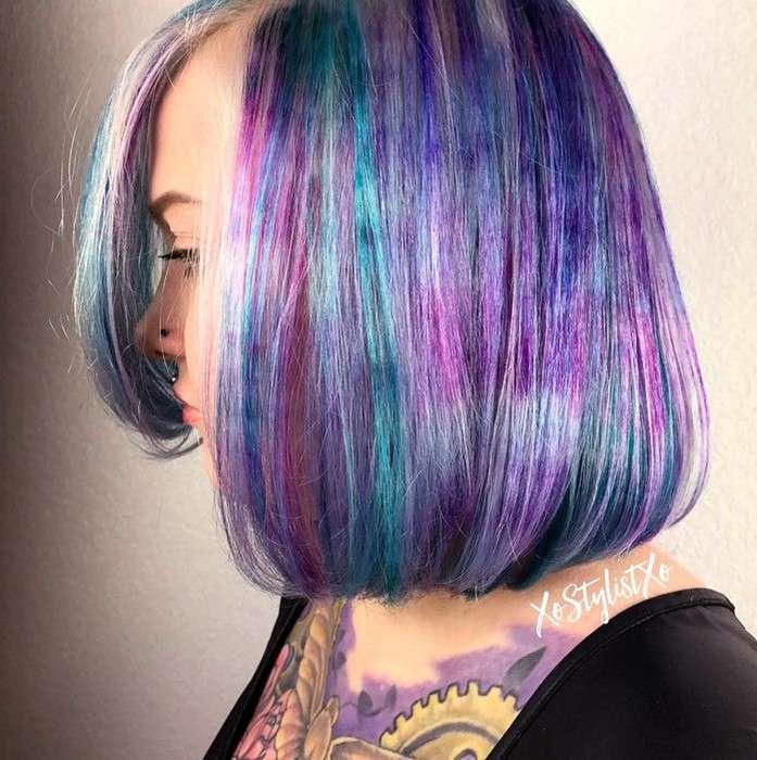 -Мраморные волосы-: самое яркое окрашивание этого сезона, о котором мечтают смелые модницы