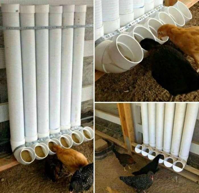 Кормушка из трубы для птиц своими руками