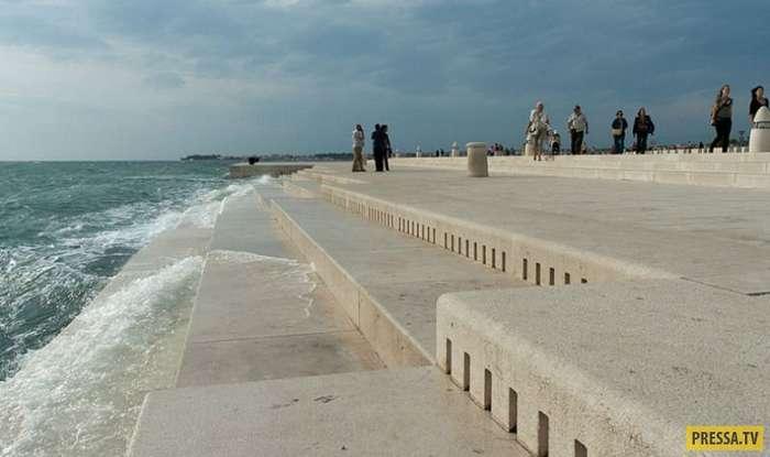 Морской орган Задар в Хорватии (6 фото + видео)
