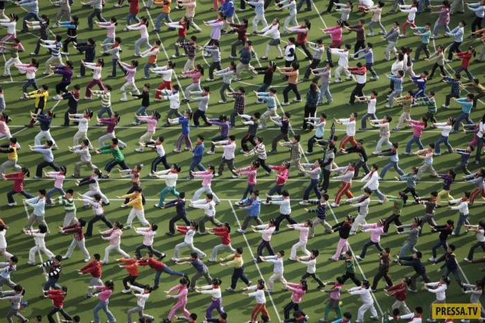 Эпические фотографии массовых мероприятий в Китае (40 фото)