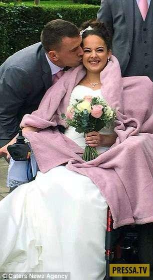 Врачи объявили страшный диагноз и пара решила пожениться (7 фото)