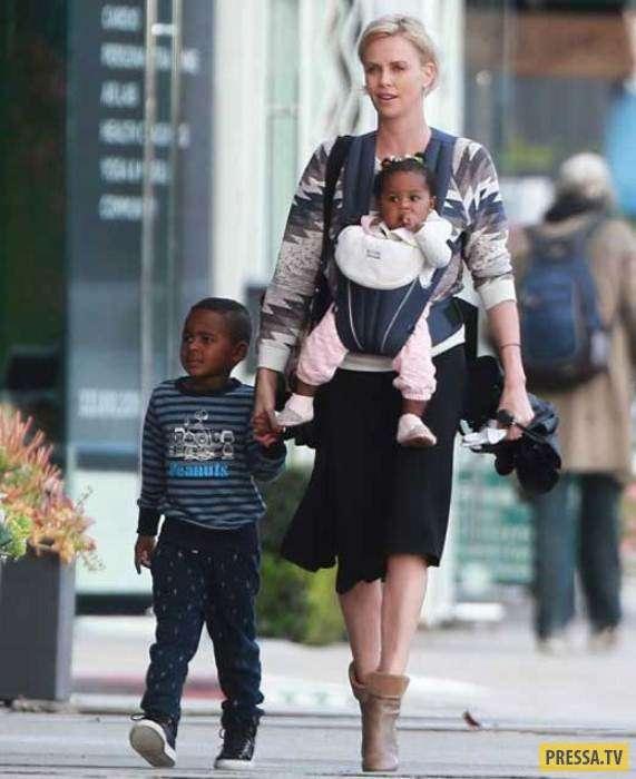 Звезды Голливуда - одинокие матери (15 фото)