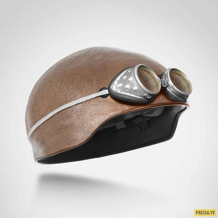 Шлем - бритая голова (6 фото)