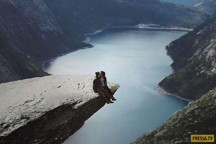 Язык Тролля в Норвегии - на самом деле, не так романтично, как на фотографиях в Инстаграме (11 фото)