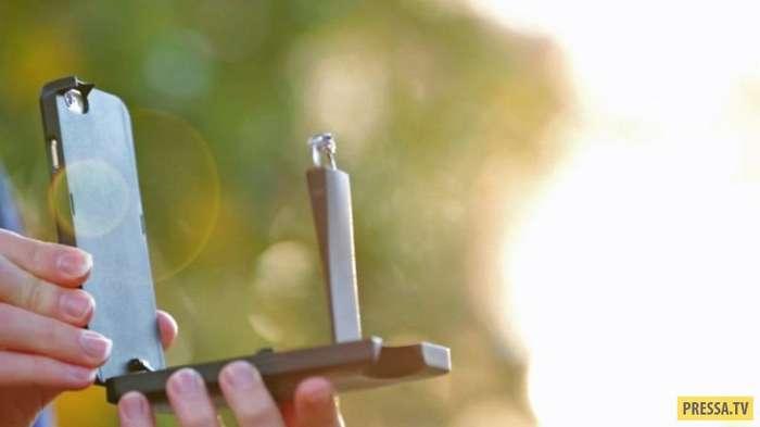 Телефонный футляр с местом для обручального кольца (5 фото)