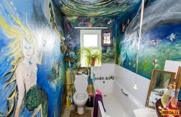 70-летняя британка потратила полжизни на роспись своей квартиры (15 фото + видео)