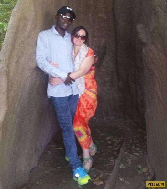 44-летняя англичанка бросила 9 детей и мужа ради 30-летнего африканца, с которым она познакомилась в Facebook (6 фото)