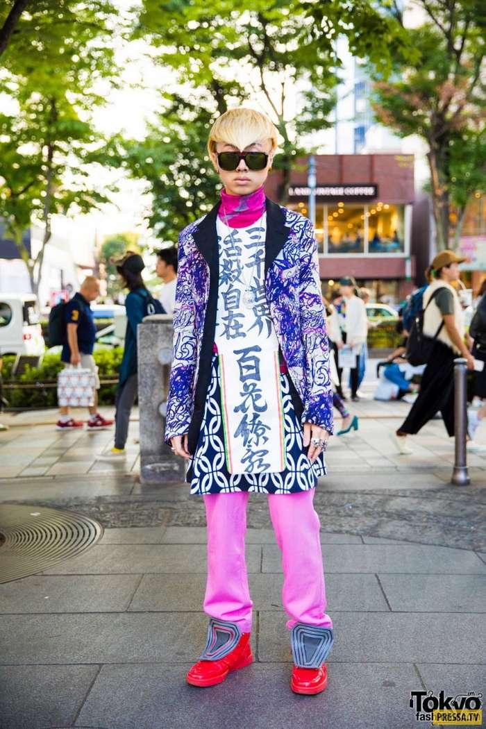 Забавные и яркие модники из Японии (38 фото)