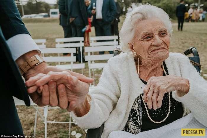 Австралиец привел на свою свадьбу 92-летнюю бабушку (9 фото)