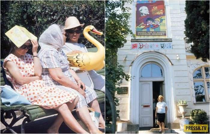 Советский город-курорт Ялта в 60-е годы (15 фото)