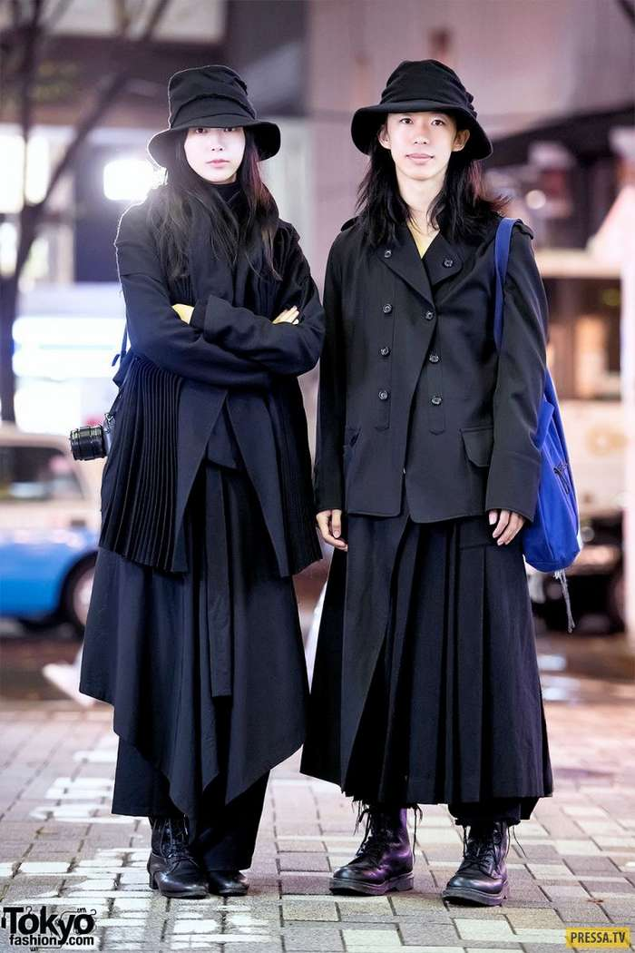 Забавные и яркие модники из Японии (35 фото)