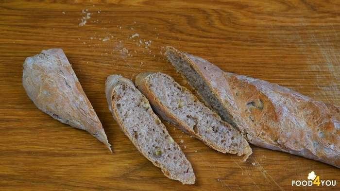 Гречнево- пшеничный багет-17 фото-