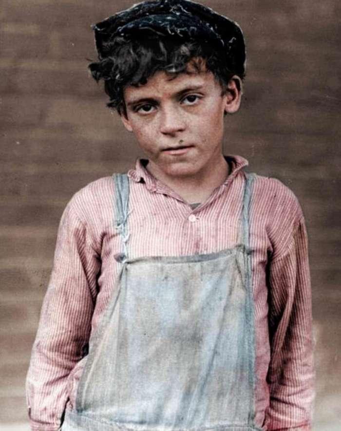 Эксплуатация детей на американских заводах в начале ХХ века-15 фото-