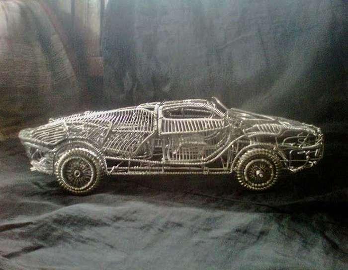 Скульптуры автомобилей из проволоки филиппинского самоучки-7 фото-