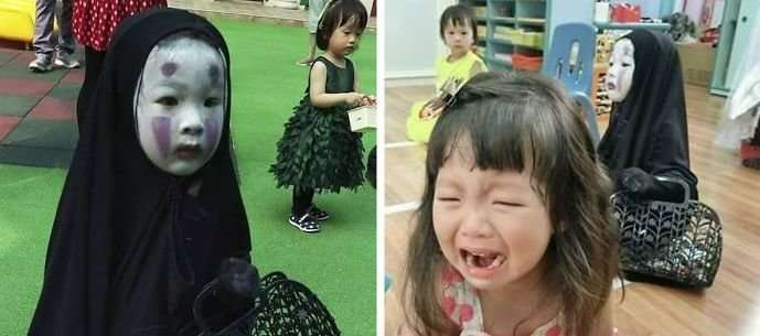 Девочка, заставившая в прошлом году благодаря своему костюму плакать других детей, вернулась-9 фото-