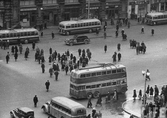 Двухэтажные троллейбусы и автобусы в СССР-15 фото-