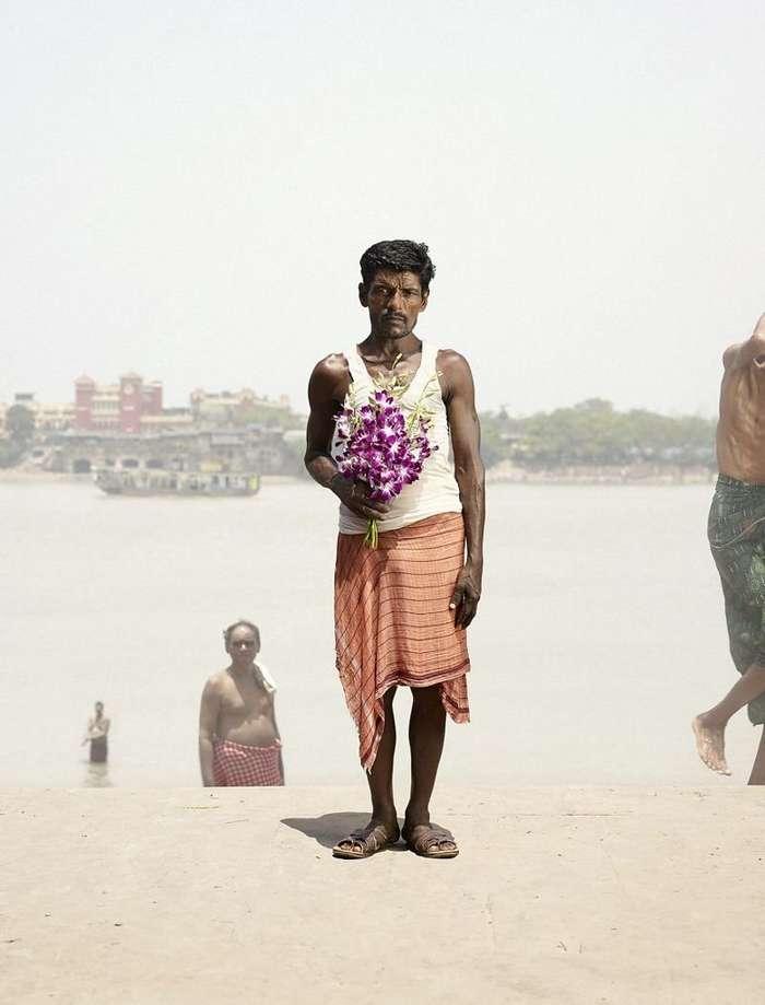 Продавцы цветов из Калькутты-25 фото-