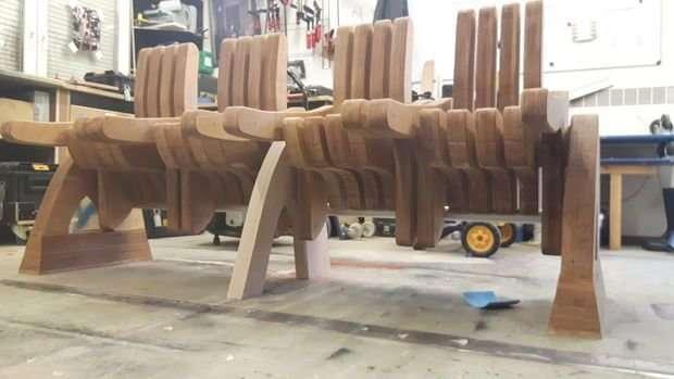 Парень сделал скамью-трансформер и она потрясающая-14 фото-