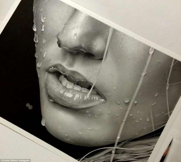 23-летний японец рисует гиперреалистичные работы карандашом-7 фото-
