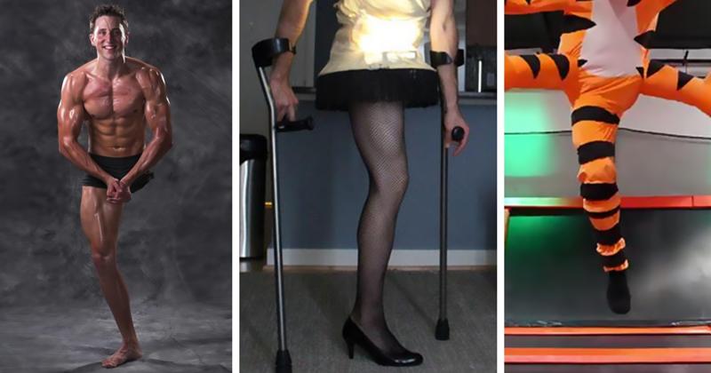 Инвалид-ампутант поражает интернет костюмами на хэллоуин-11 фото + 3 гиф-