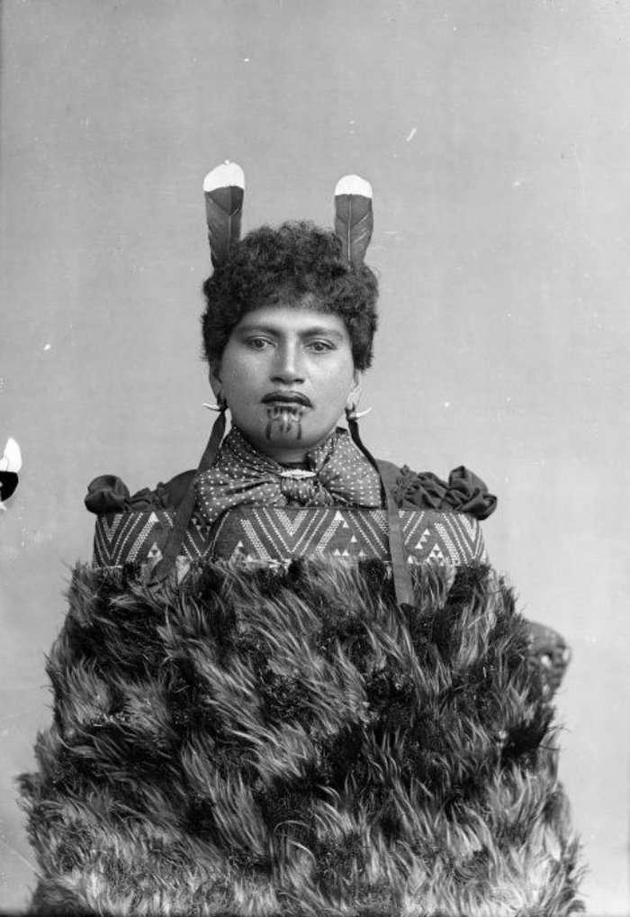 Женщины маори со священными татуировками в портретах начала 20 века-20 фото-