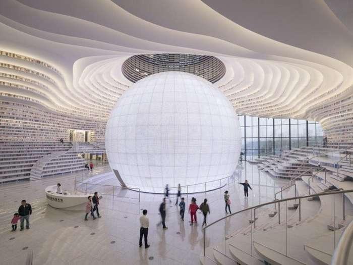 В Китае появилась футуристическая библиотека, и она явно отличается от всего того, что вы видели раньше-12 фото-